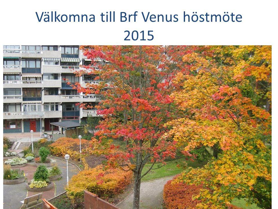 Välkomna till Brf Venus höstmöte 2015