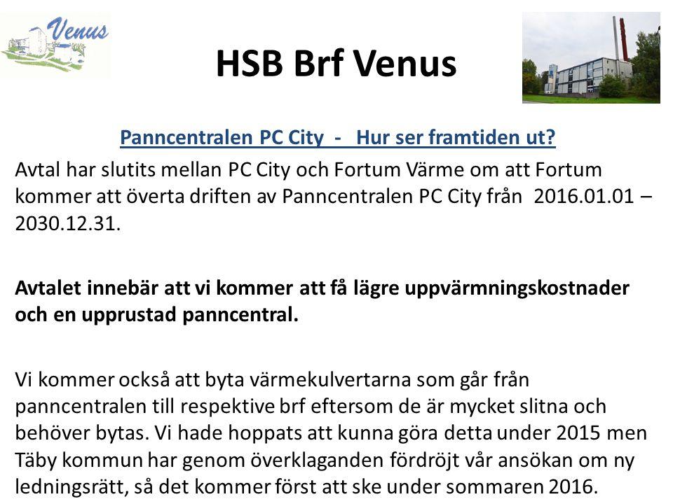 HSB Brf Venus Panncentralen PC City - Hur ser framtiden ut.