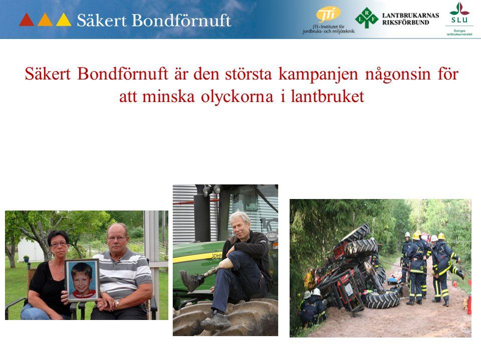 Jord- och skogsbruket är Sveriges mest olycksdrabbade bransch.
