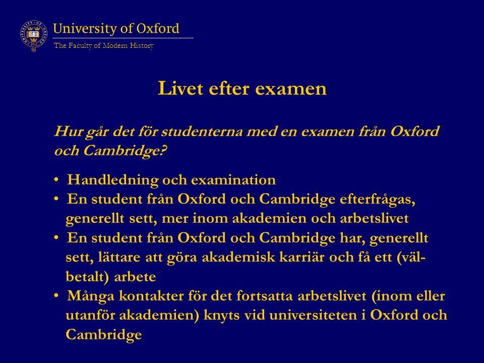 Livet efter examen Hur går det för studenterna med en examen från Oxford och Cambridge.