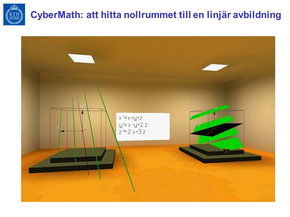 CyberMath: att hitta nollrummet till en linjär avbildning = = =