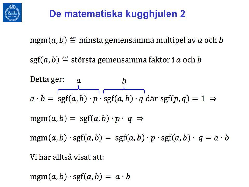 De matematiska kugghjulen 2