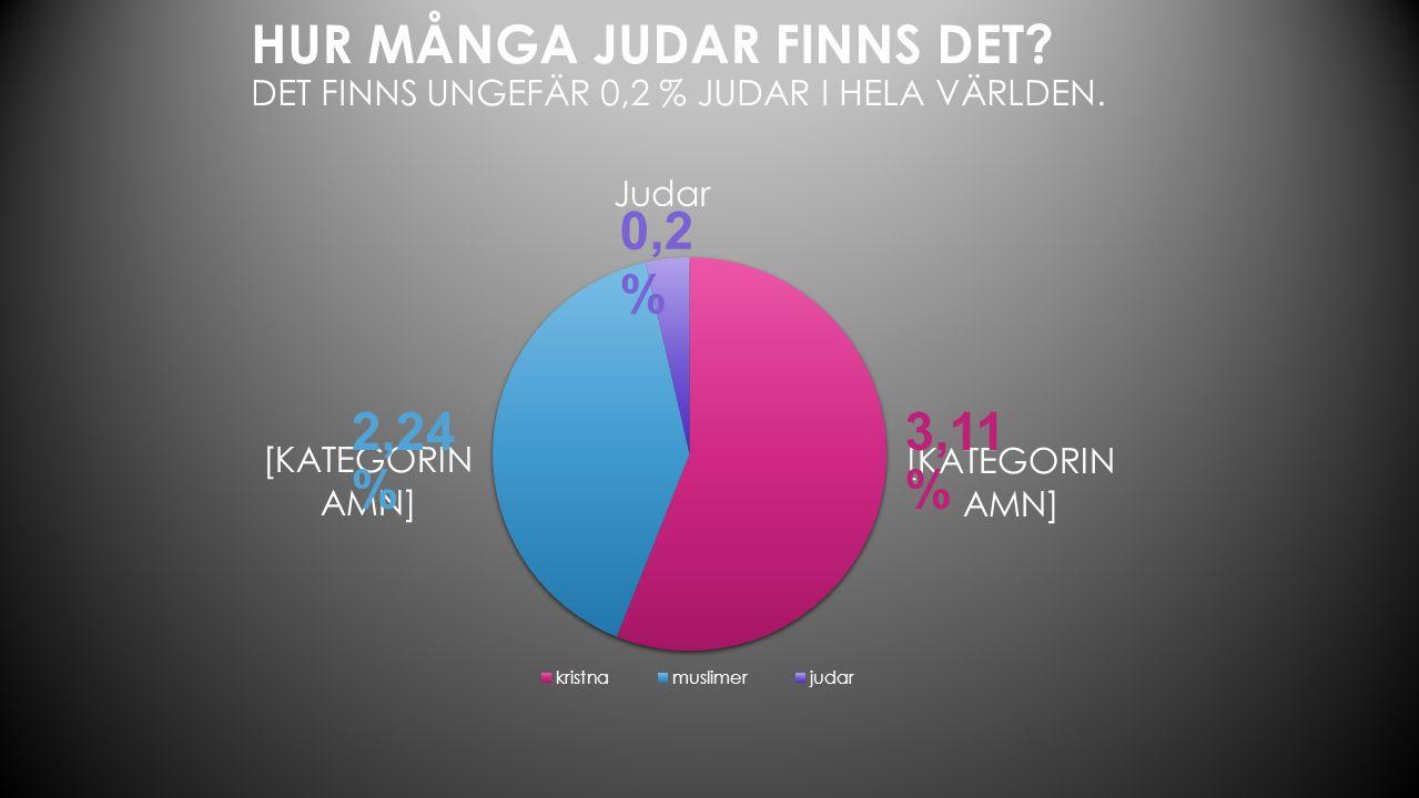 0,2 % 2,24 % 3,11 % Varför finns det så få Judar.