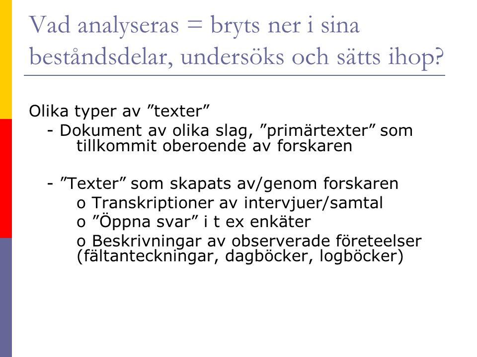 Exempel Angerd Eilard (2009).Förändrade könsmönster i grundskolans läseböcker.