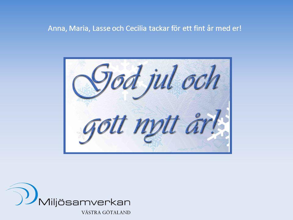 Anna, Maria, Lasse och Cecilia tackar för ett fint år med er!