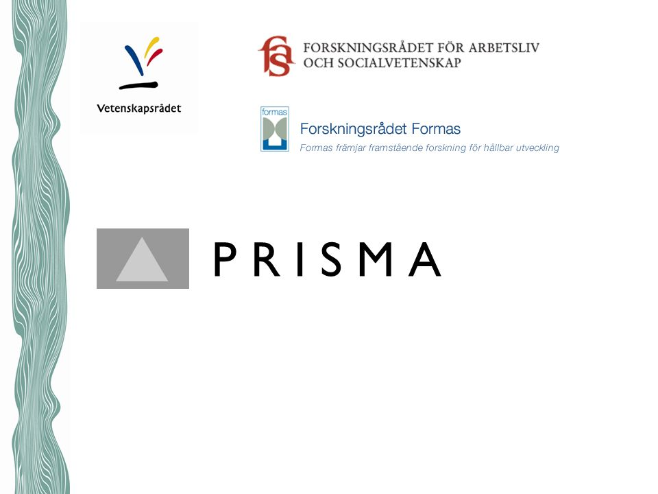 Sammanfattning redovisning i Prisma Innehåll –SUHF-modellen.