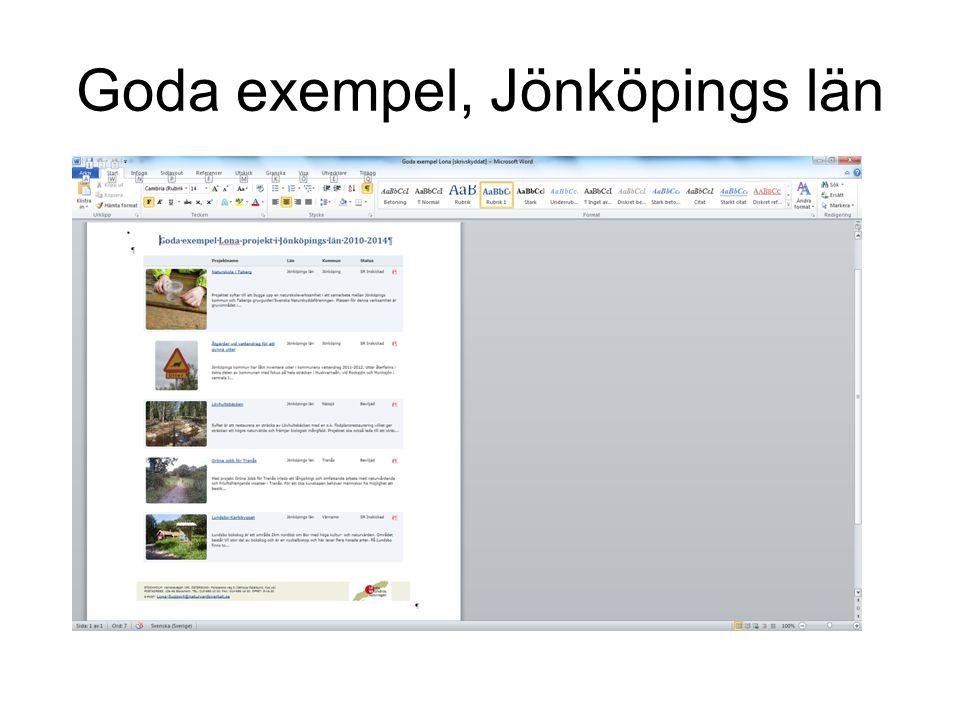 Goda exempel, Jönköpings län
