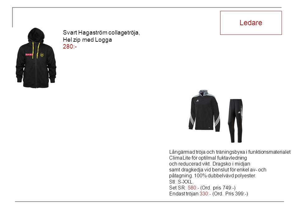 Ledare Långärmad tröja och träningsbyxa i funktionsmaterialet ClimaLite för optilmal fuktavledning och reducerad vikt.