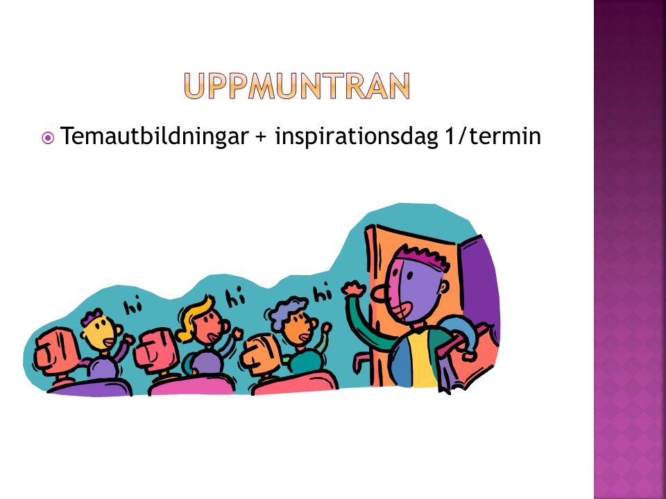 Temautbildningar + inspirationsdag 1/termin