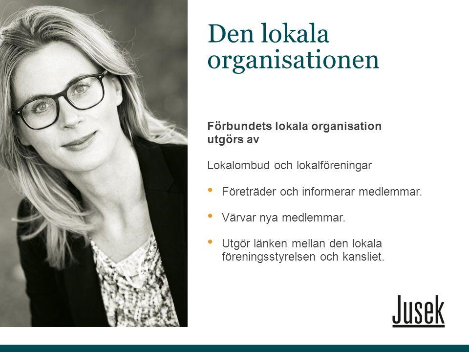 Förbundets lokala organisation utgörs av Lokalombud och lokalföreningar Företräder och informerar medlemmar. Värvar nya medlemmar. Utgör länken mellan