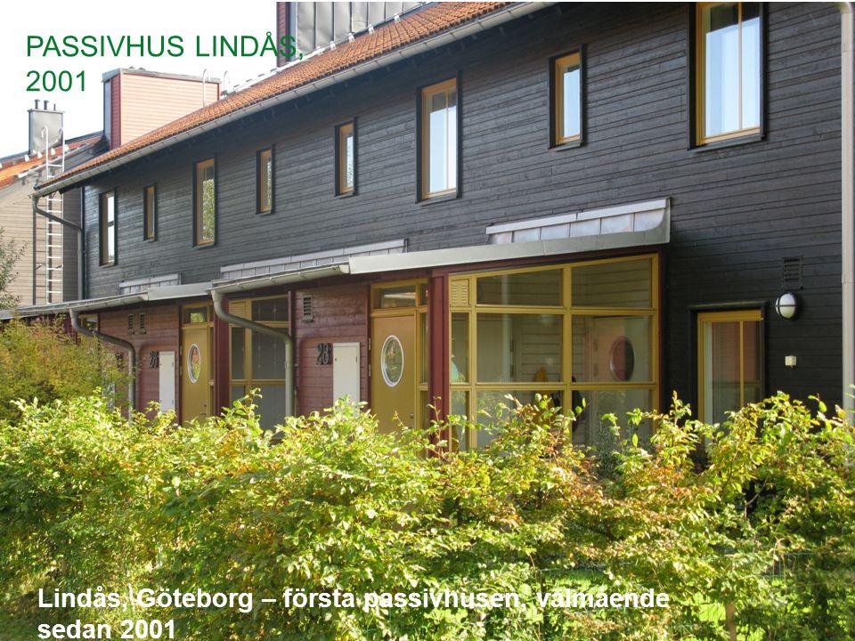 Lindås, Göteborg – första passivhusen, välmående sedan 2001 PASSIVHUS LINDÅS, 2001
