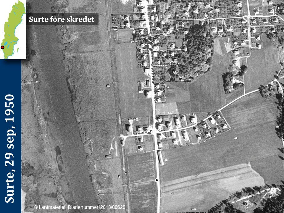 Surte, 29 sep, 1950 Surteraset var ett av efterkrigstidens många jordskred i Västsverige och inträffade i Surte (ca 1,5 mil norr om Göteborg) 1950.