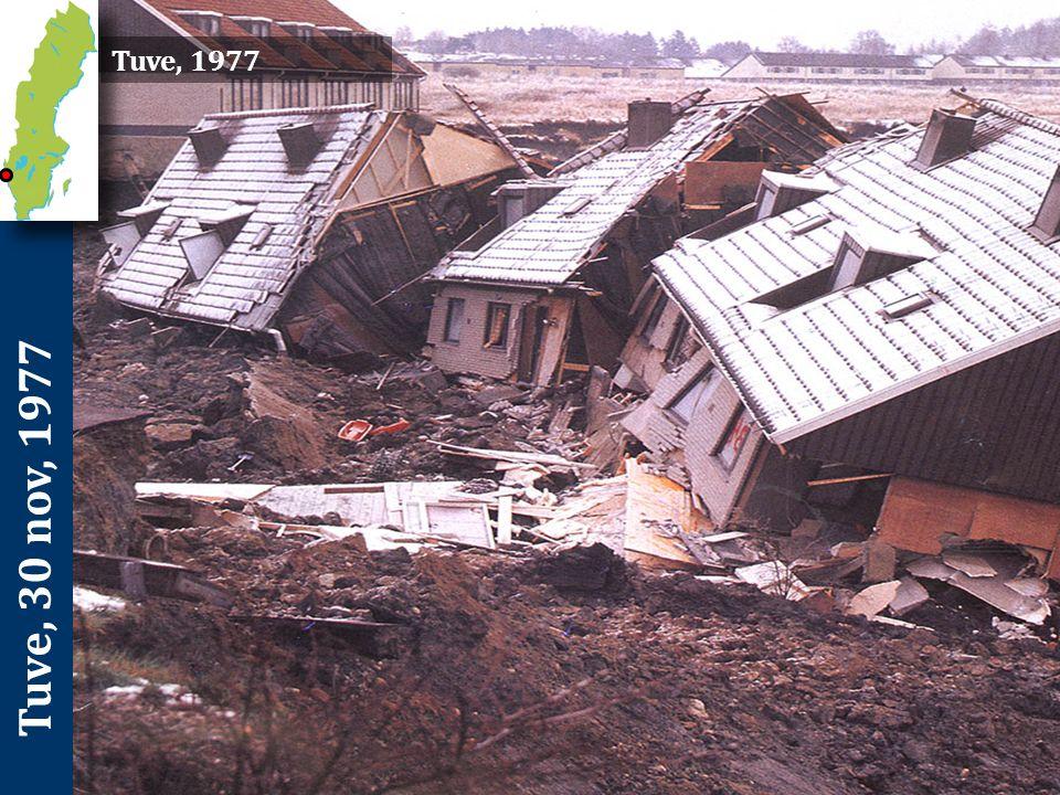 Tuve, 30 nov, 1977 Förutsättningar och orsaker Flera faktorer bidrog till att skredet utlöstes och fick den stora omfattningen.