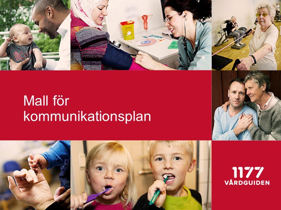 Mall för kommunikationsplan