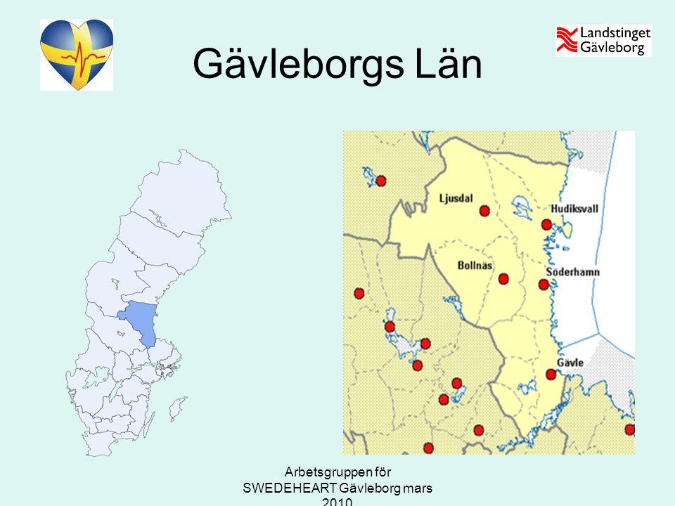 Arbetsgruppen för SWEDEHEART Gävleborg mars 2010 Gävleborgs Län