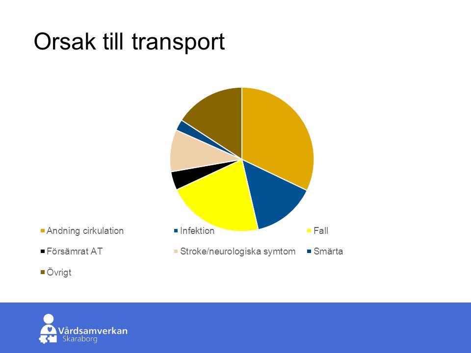 Skaraborgs Sjukhus Orsak till transport