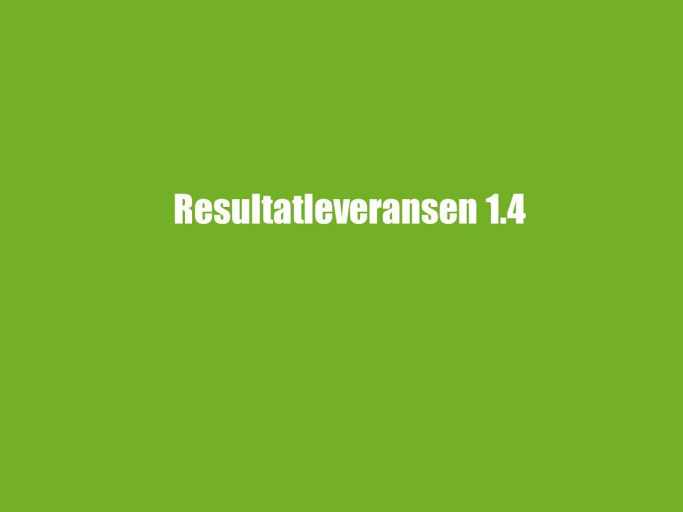 4 Åtgärder för Resultathanteringsleveransen Rapportören visas som beslutsfattare på resultatverifikat, inträffar vid enda prov.