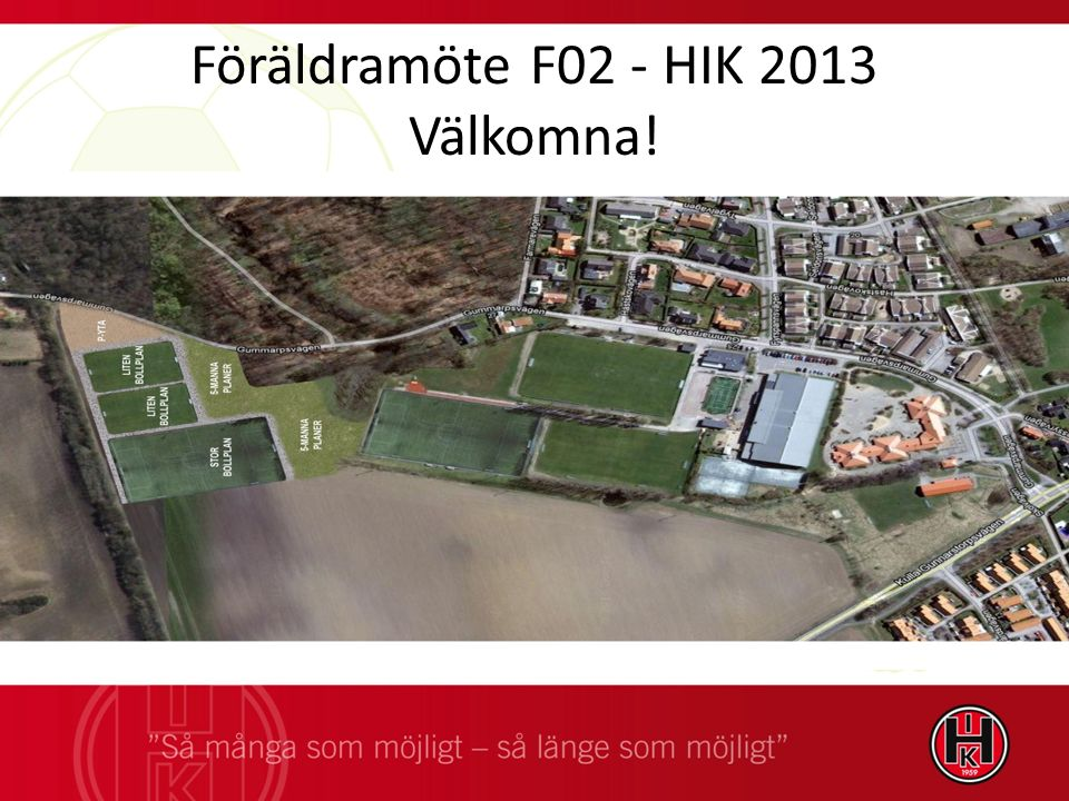 Föräldramöte F02 - HIK 2013 Välkomna!