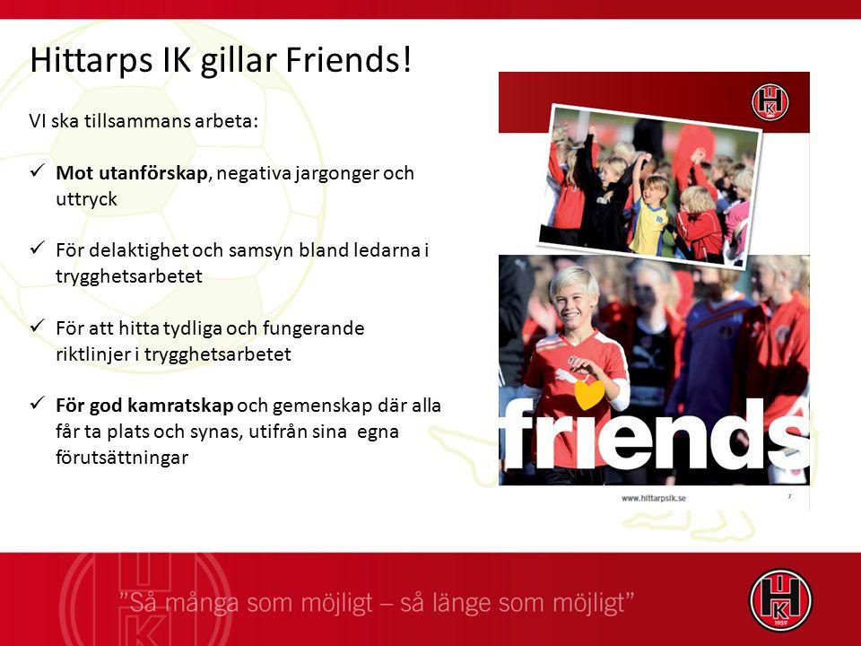 Hittarps IK gillar Friends! VI ska tillsammans arbeta: Mot utanförskap, negativa jargonger och uttryck För delaktighet och samsyn bland ledarna i tryg