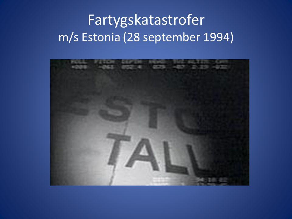 Fartygskatastrofer m/s Estonia (28 september 1994)