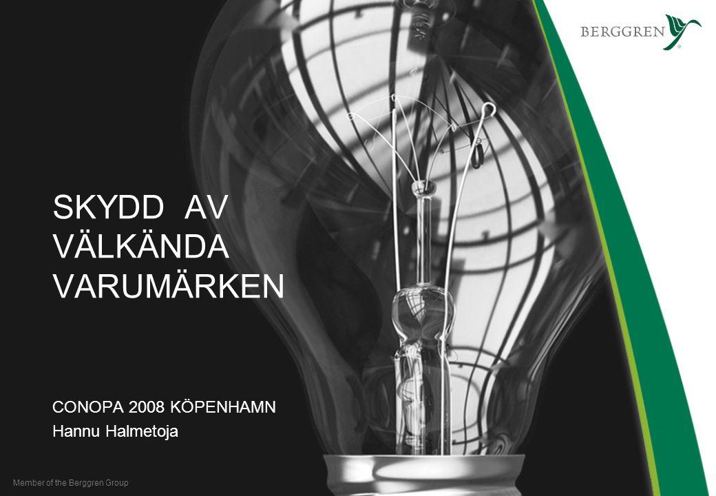 Member of the Berggren Group SKYDD AV VÄLKÄNDA VARUMÄRKEN CONOPA 2008 KÖPENHAMN Hannu Halmetoja