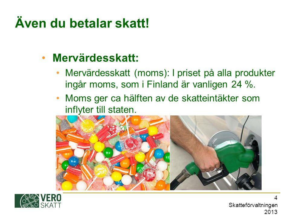 Skatteförvaltningen 2013 5 De unga och skattekortet