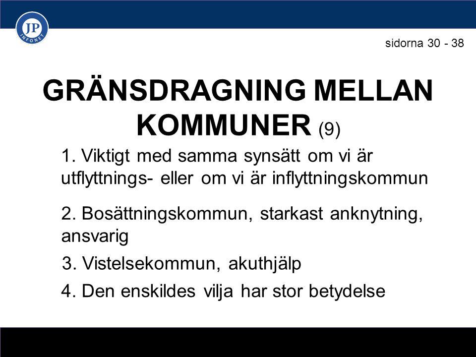 GRÄNSDRAGNING MELLAN KOMMUNER (9) 1.