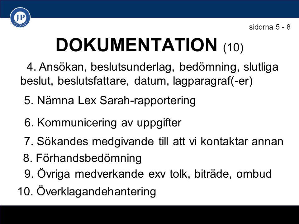 DOKUMENTATION (10) 4.