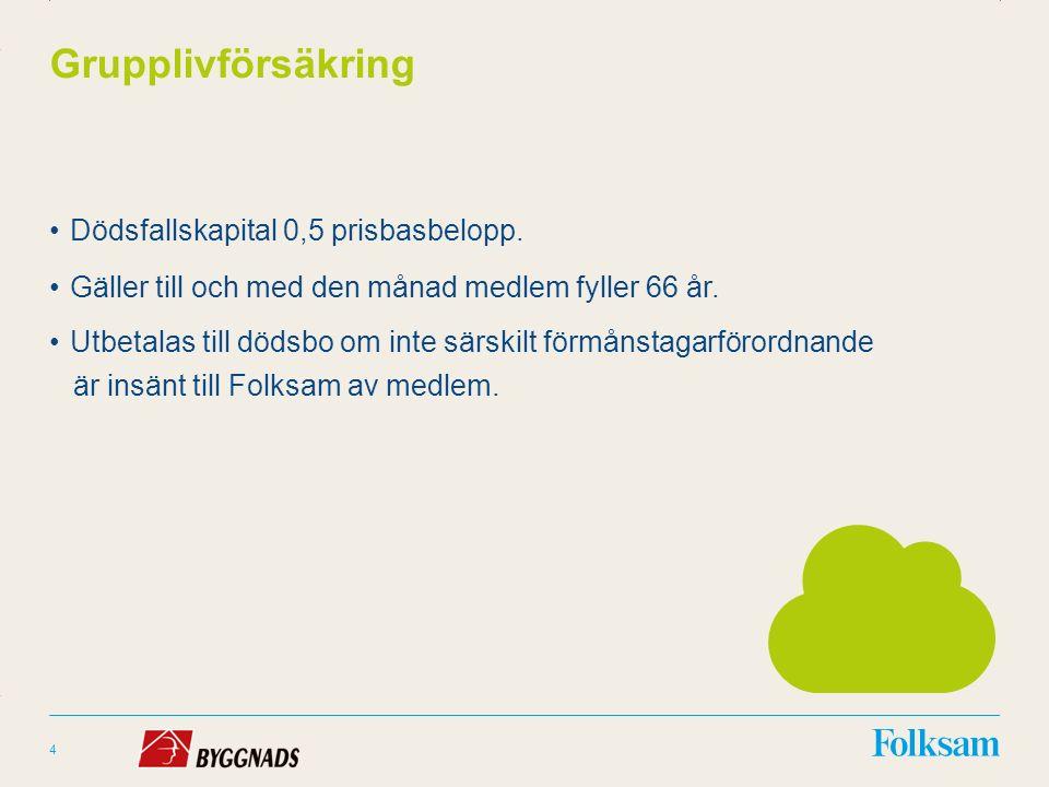 Innehållsyta Rubrikyta Grupplivförsäkring Dödsfallskapital 0,5 prisbasbelopp.