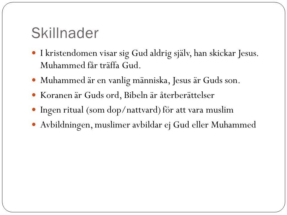 Maten Omskärelse, manlig - står ej i Koranen men i Bibeln.