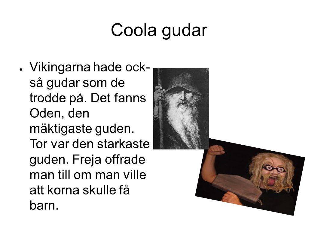 Coola gudar ● Vikingarna hade ock- så gudar som de trodde på.