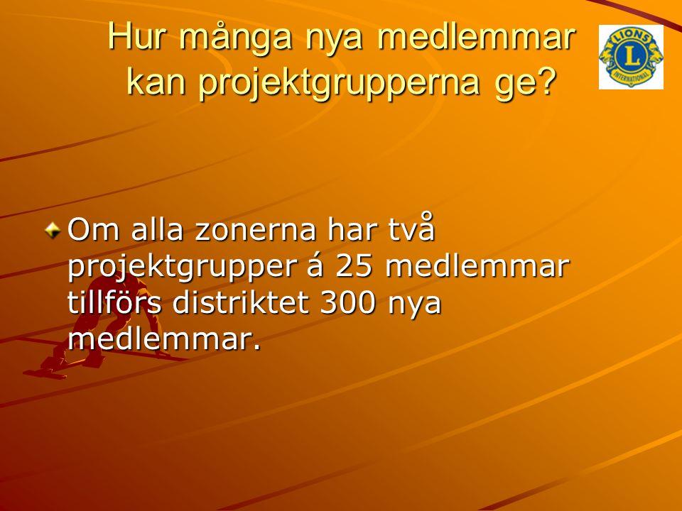 Hur många nya medlemmar kan projektgrupperna ge.