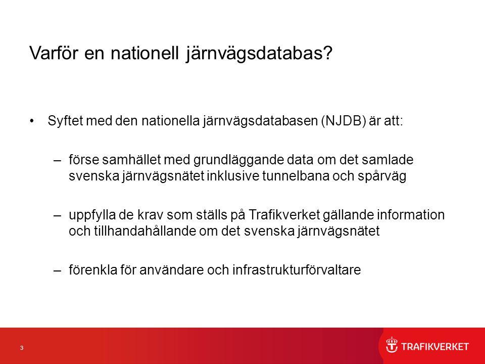 3 Varför en nationell järnvägsdatabas.