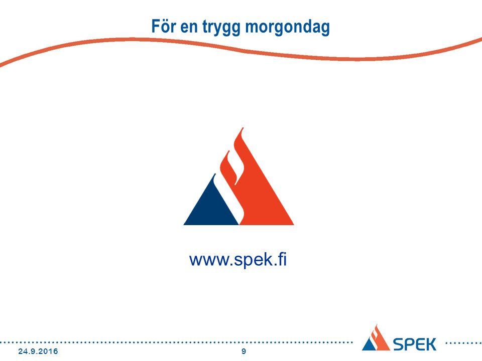 För en trygg morgondag 24.9.20169 www.spek.fi