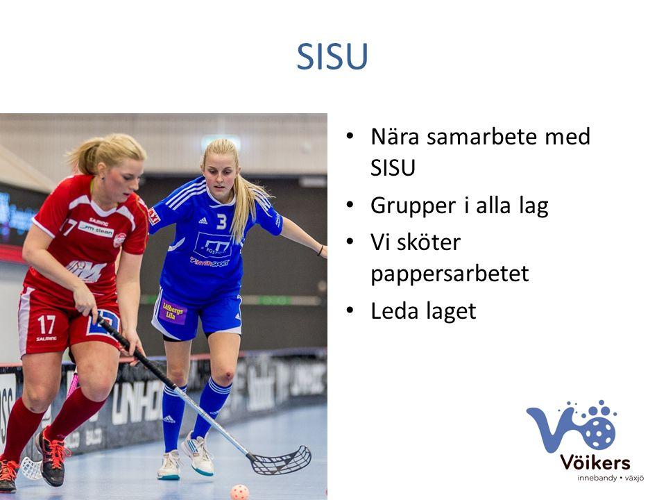 SISU Nära samarbete med SISU Grupper i alla lag Vi sköter pappersarbetet Leda laget