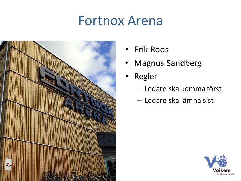 Fortnox Arena Erik Roos Magnus Sandberg Regler – Ledare ska komma först – Ledare ska lämna sist
