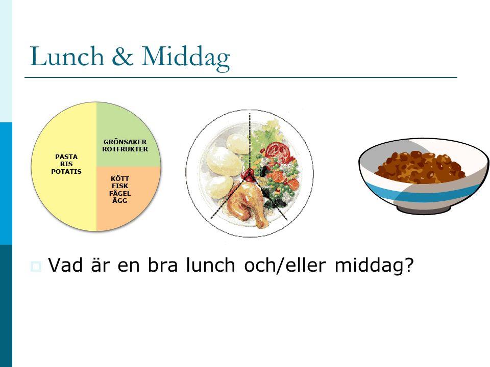 Lunch & Middag  Vad är en bra lunch och/eller middag