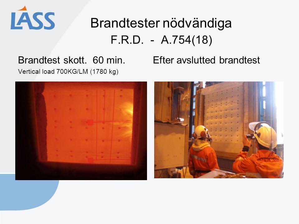 Brandtester nödvändiga F.R.D. - A.754(18) Brandtest skott.