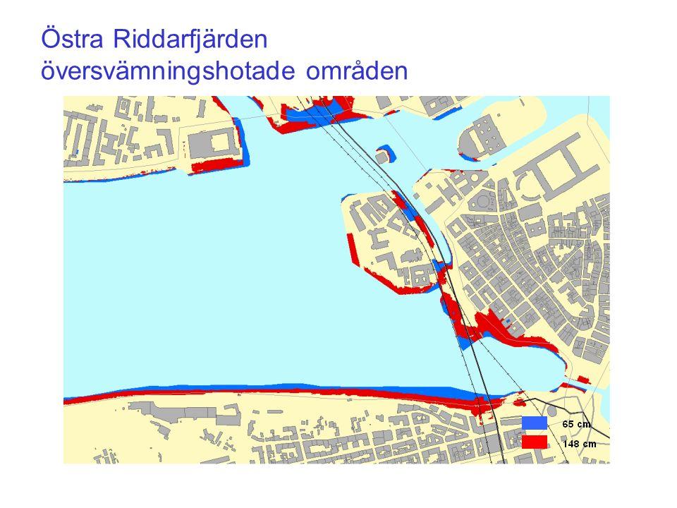 Östra Riddarfjärden översvämningshotade områden