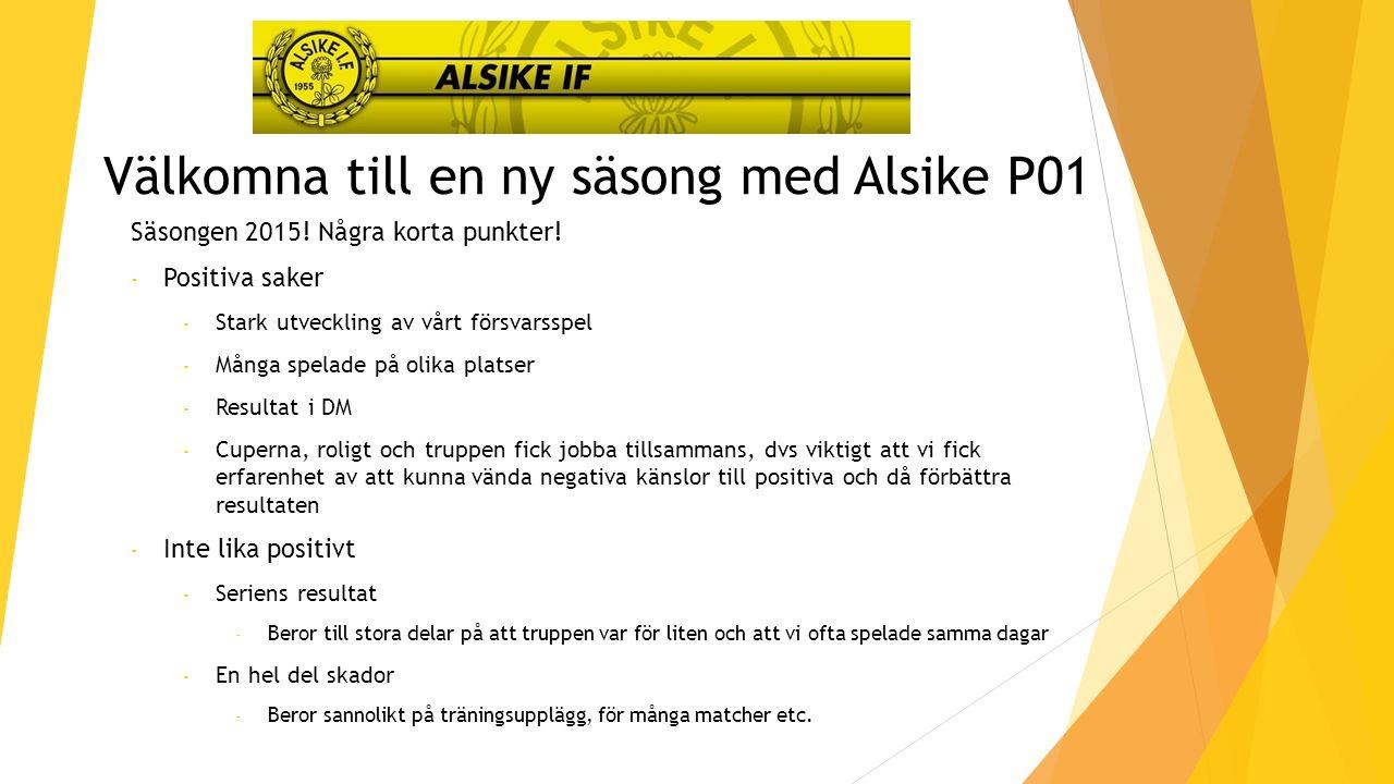 Välkomna till en ny säsong med Alsike P01 Säsongen 2015.