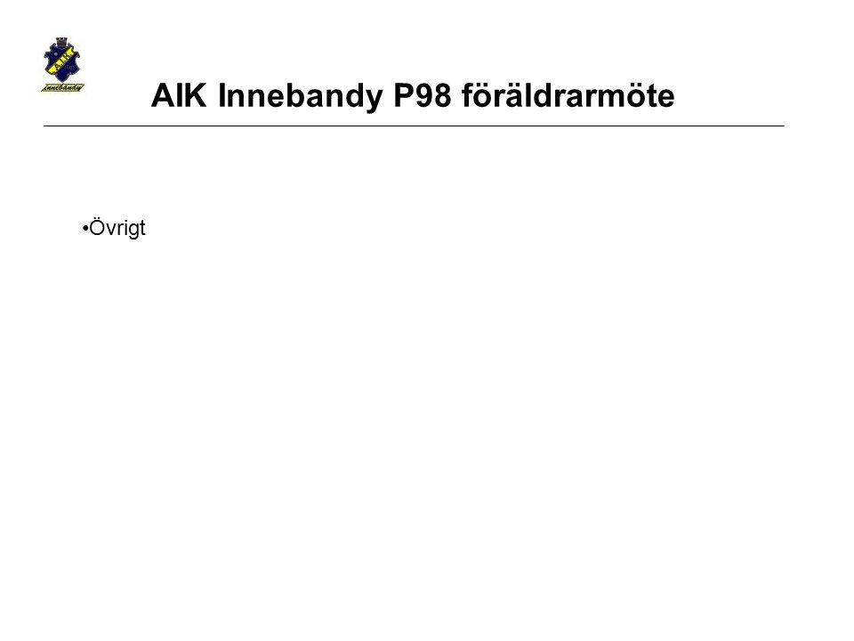 Övrigt AIK Innebandy P98 föräldrarmöte
