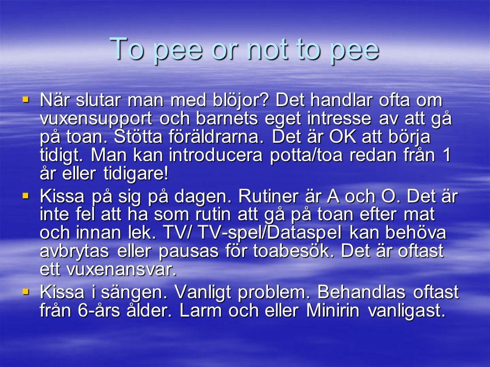 To pee or not to pee  När slutar man med blöjor.