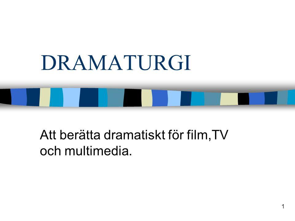 1 DRAMATURGI Att berätta dramatiskt för film,TV och multimedia.