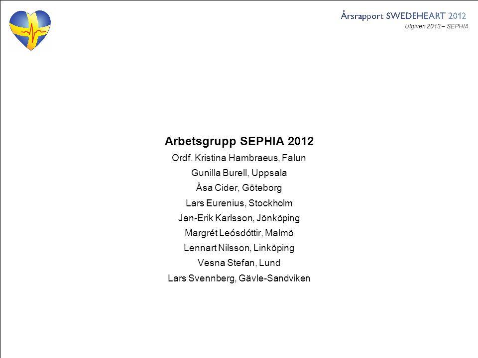 Utgiven 2013 – SEPHIA Figur 1. Antal uppföljda patienter per uppföljning och år.