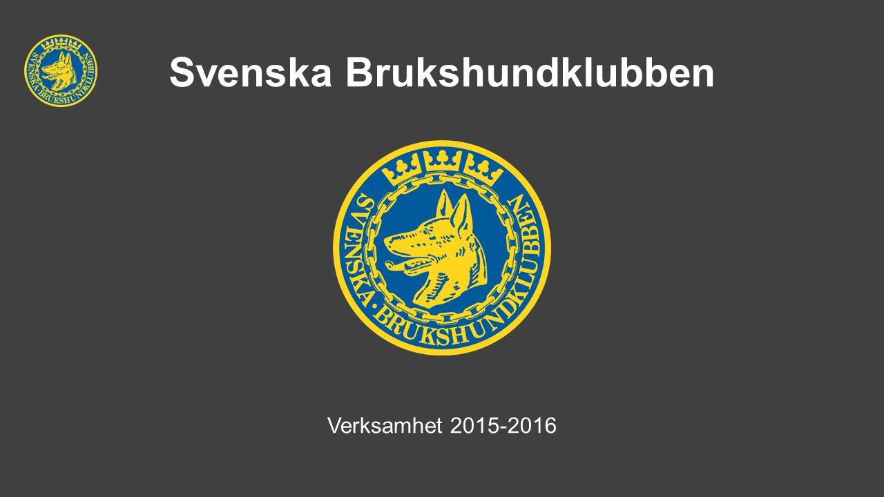 Svenska Brukshundklubben Verksamhet 2015-2016