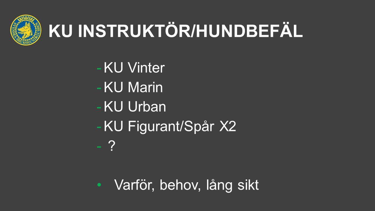 KU INSTRUKTÖR/HUNDBEFÄL -KU Vinter -KU Marin -KU Urban -KU Figurant/Spår X2 - .