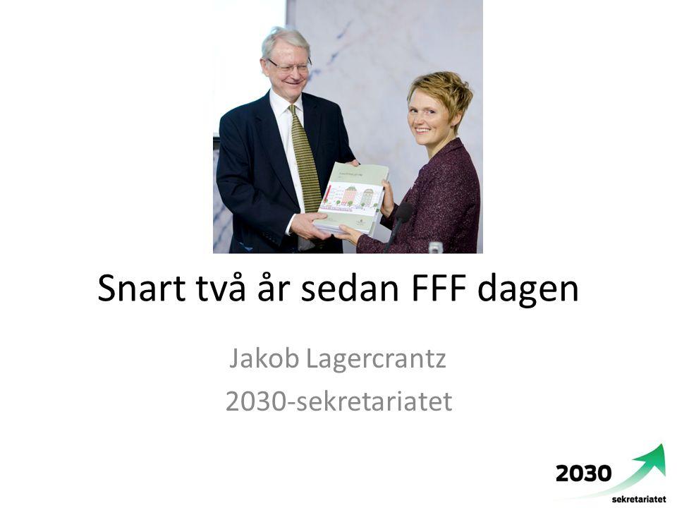 Snart två år sedan FFF dagen Jakob Lagercrantz 2030-sekretariatet