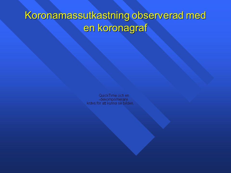 Koronamassutkastning observerad med en koronagraf