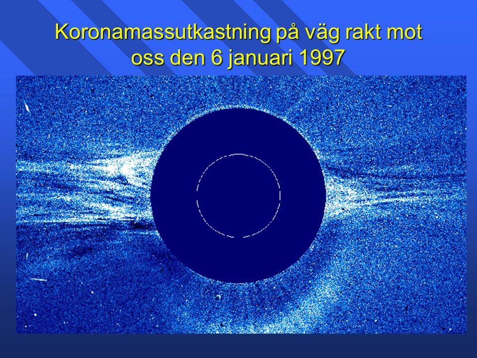 Koronamassutkastning på väg rakt mot oss den 6 januari 1997