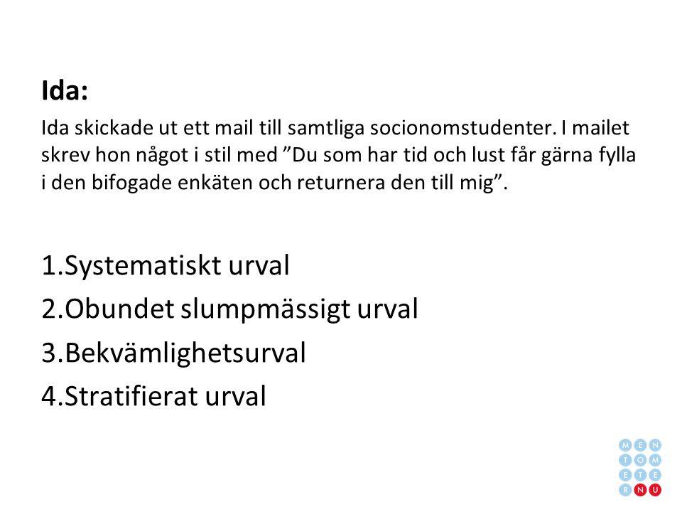 Ida: Ida skickade ut ett mail till samtliga socionomstudenter.